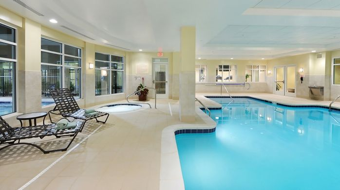 Hilton Garden Inn Atlanta Airport North Hotel, GA - Indoor Swimming Pool & Seating Area