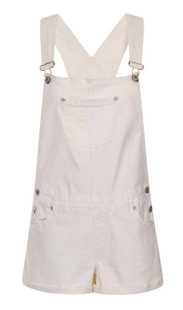 Womens White dungaree Shorts from Dungarees-Online Perfect for the summer, vacations, festivals etc. #dungareeshorts #dungarees #overalls #shortalls