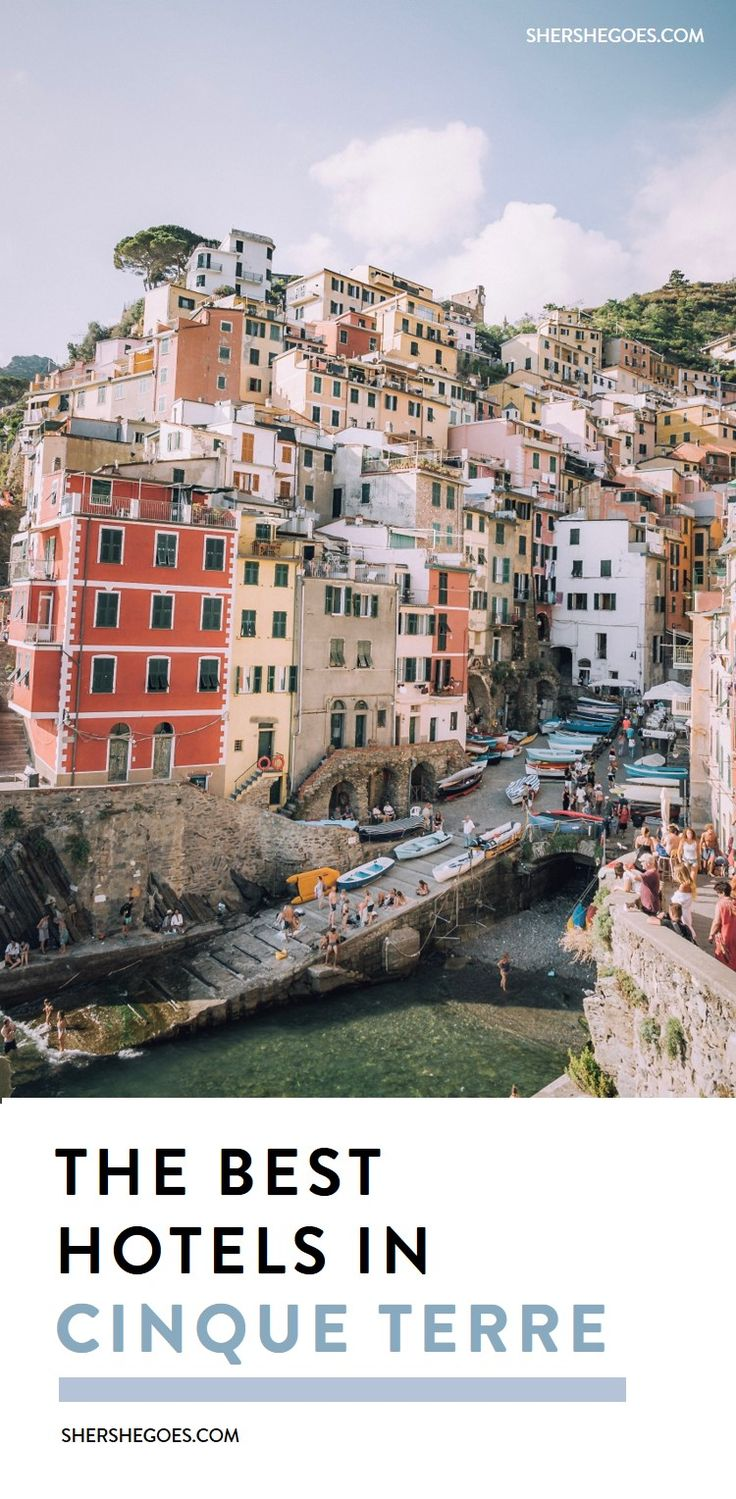an italy travel guide for the best hotels, airbnbs and local rooms in cinque terre. riomaggiore, monterosso, vernazza, corneglia or manarola - which italian village should you stay in? #italy, italy things to do, cinque terre things to do, cinque terre neighborhood guide, cinque terre travel guide
