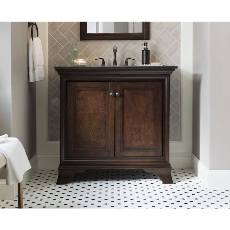 Shop allen + roth Eastcott Auburn Undermount Single Sink Bathroom Vanity  with Granite Top (Common: x Actual