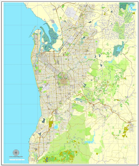 Full Map Of Australia.Adelaide Pdf Map Vector Australia Printable City Plan V3 29 Editable