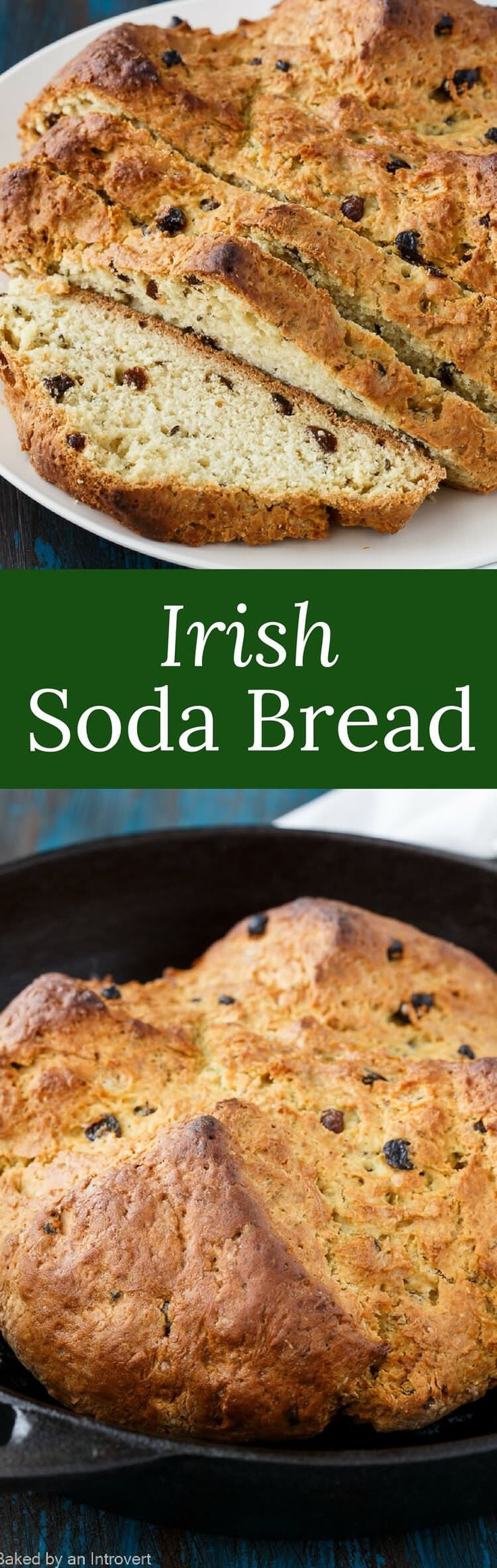 This Irish Soda Bread is a family favorite for St. Patrick's Day. It's flavored with fragrant caraway seeds and plump dark raisins.  via @introvertbaker