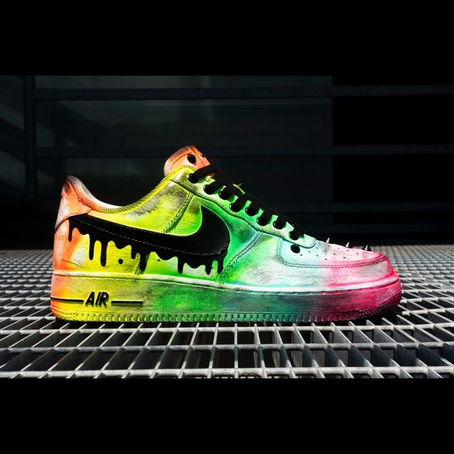 Nike Air Force 1 custom: FLUO punky by black-dioniso in 2021 ...