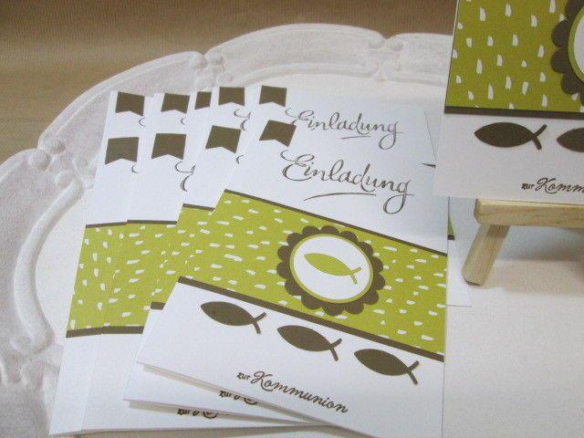 Stampin´Up!Handgemachte Einladungskarten Kommunion 10 Karten U0026 10 Umschläge