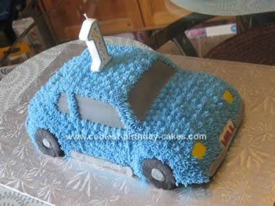 Homemade Car Birthday Cake Design: For my son's first birthday I decided to go with a theme of 'cars'. I didn't want to go too 'theme' crazy so I decided to stay away from characters etc.
