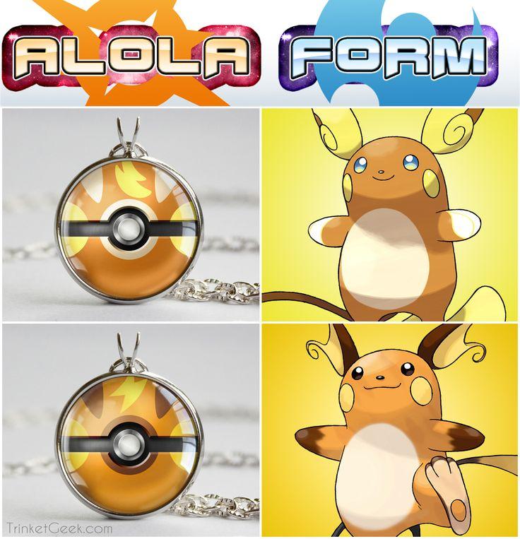 Pkmn Alola Form Themed Pokeball Pendants