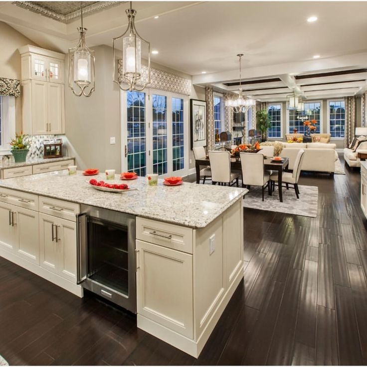 Loving this open concept by tollbrothers interiors exteriors in 2018 home home decor for Open kitchen and living room ideas