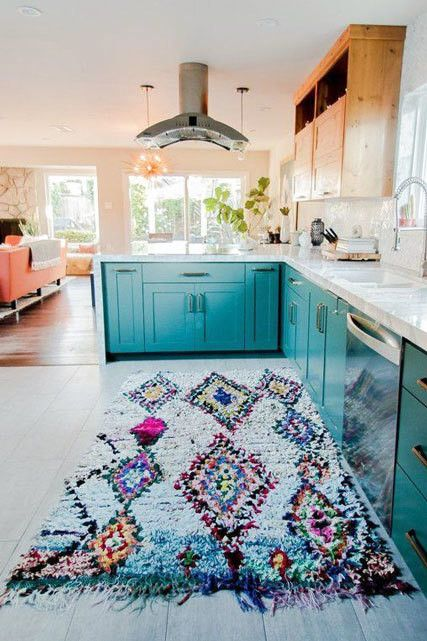 Turquoise Treatment - 15 Times Painted Kitchen Cabinets Changed Everything…