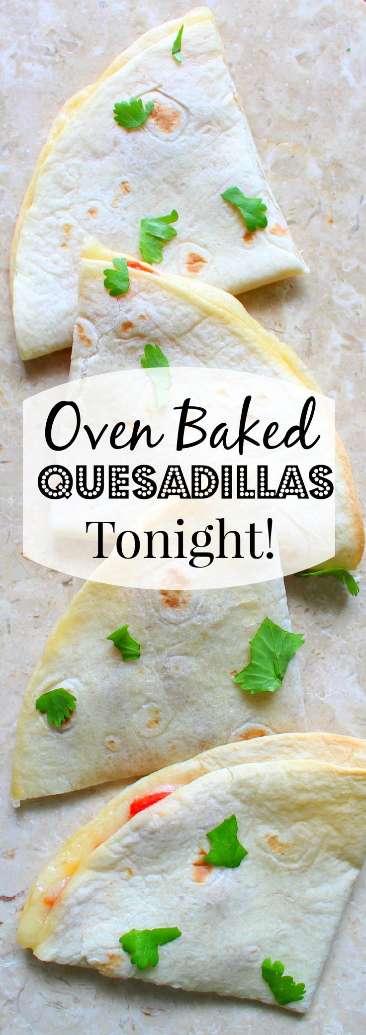 Why stand over a hot skillet when you can have oven baked quesadillas in half the time with half the work?  Follow Recipe for Perfection for more great time-saving recipes!