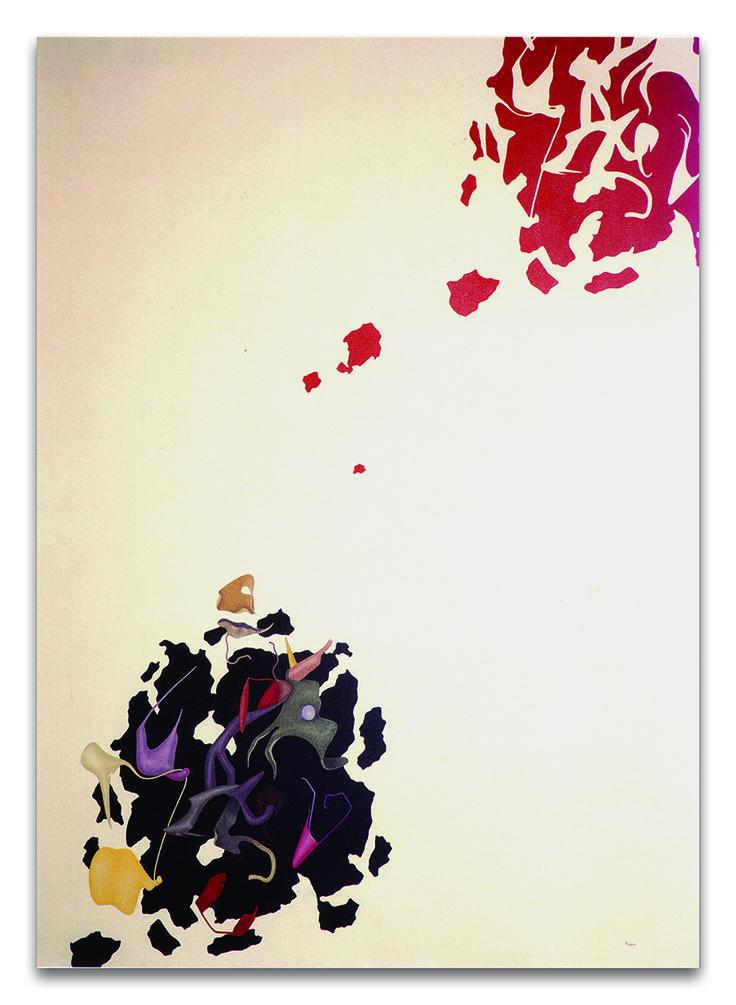 """""""Orizzonte degli eventi"""" acrilici su tela, cm 180x130, 1989"""