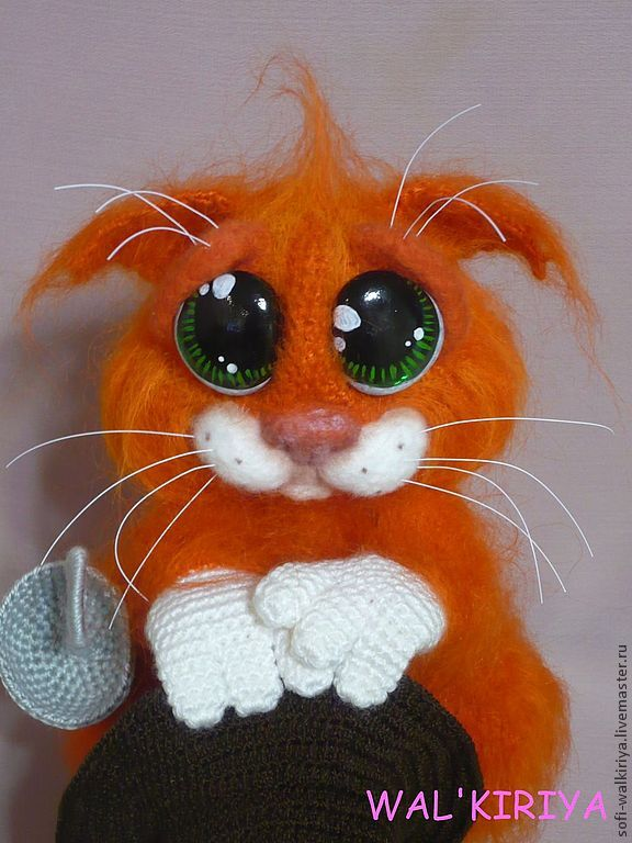 Вязание крючком коты игрушки