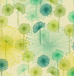 Dandelion pattern: Quilts Fabrics, Color Palettes, Citrus, Color Schemes, Blue Green, Bluegreen, Color Patterns, Values ​​Well, Dandelions