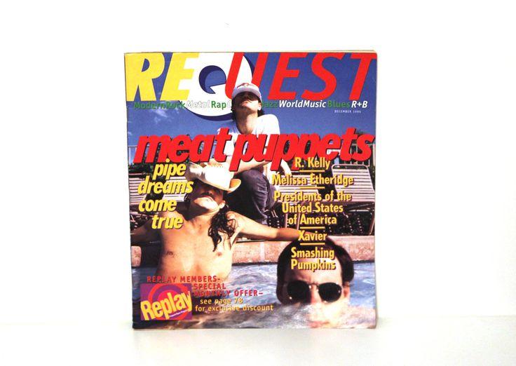 Vintage 90s Request Magazine 1995 Meat Puppets R Kelly grunge rap by 216vintageModern on Etsy