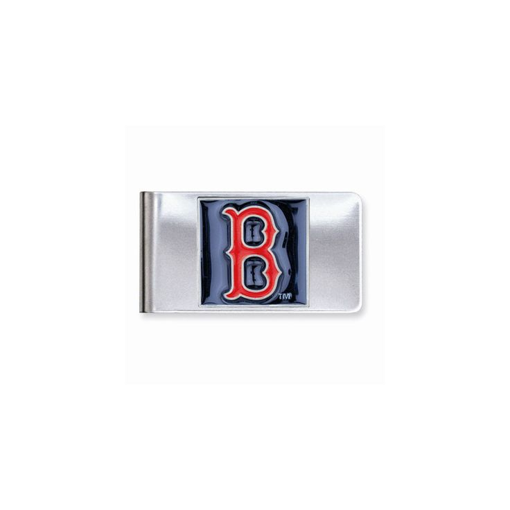 MLB Red Sox Money Clip - Engravable Personalized Gift Item
