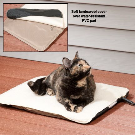 Heated Cat Beds: Indoor/Outdoor Heated Pad for Cats for only $45.49