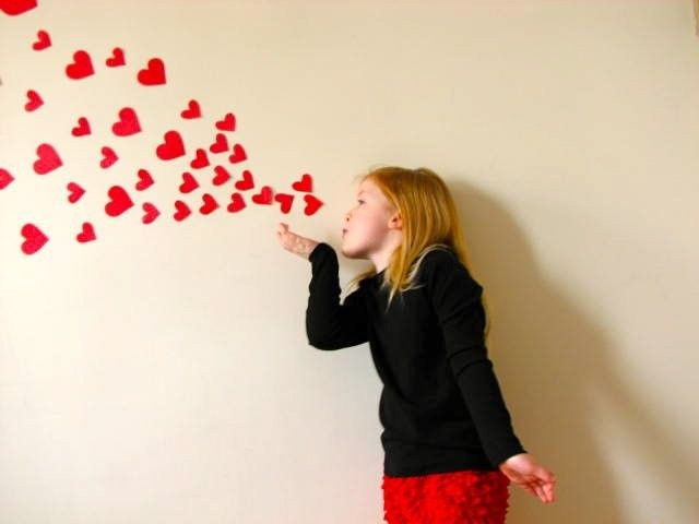 Valentine Photo idea... Gel clings?  I am sure party city or target has something to make this work...