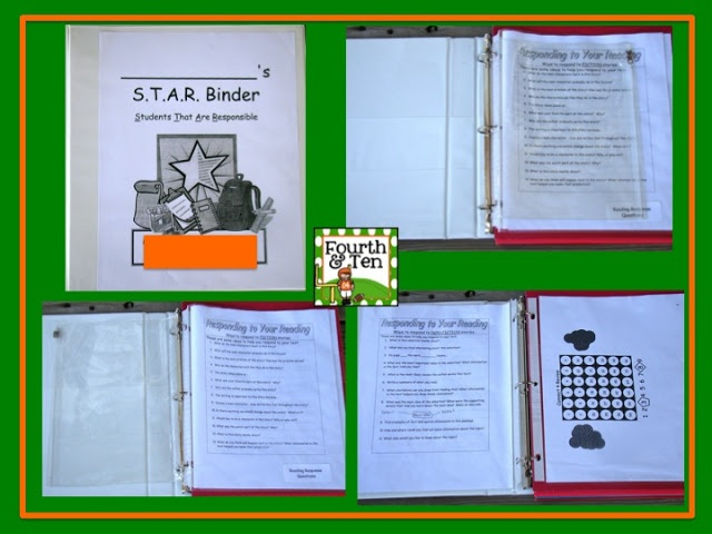 I knew something needed to change, so I did a STAR binder the next year, all their folders where in a binder and the binder went back and forth each day.  I got the idea from Mrs. Van Dyke, you can check out her informational page about STAR binders here.