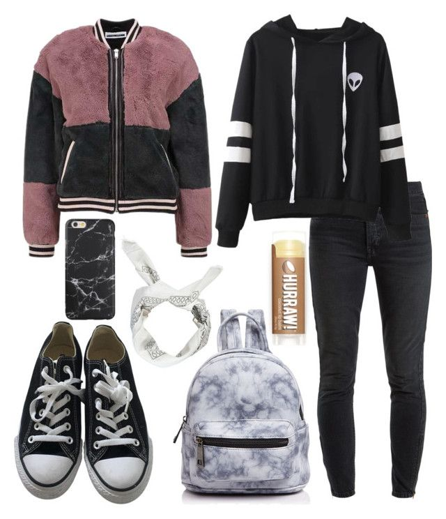 """outfit"" by kwharmony on Polyvore featuring Boohoo, RE/DONE, Converse and Street Level"