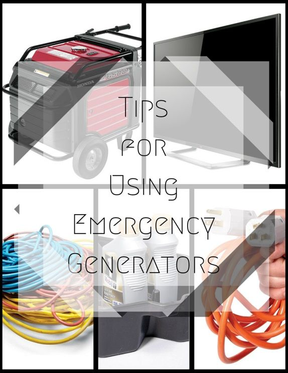 tips for using emergency generators - a backup generator can save the day when the power goes out