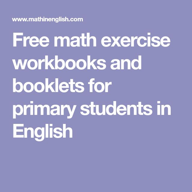 Free math exercise workbooks and booklets for primary students in English