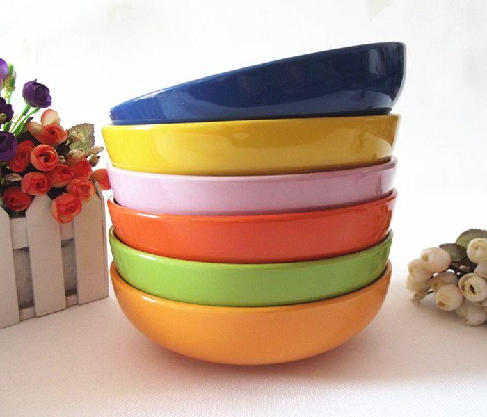 49 доставки корейских семей с детьми керамическая посуда цвета неглубокой миске 7 дюймов глубокое блюдо суп блюдо - Taobao