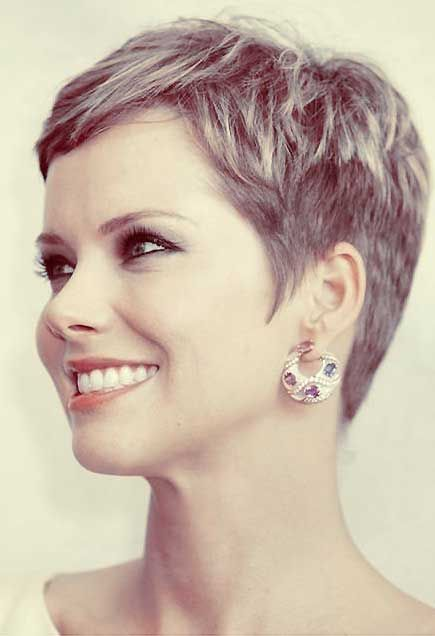 Short Pixie Haircut with Longer Cap