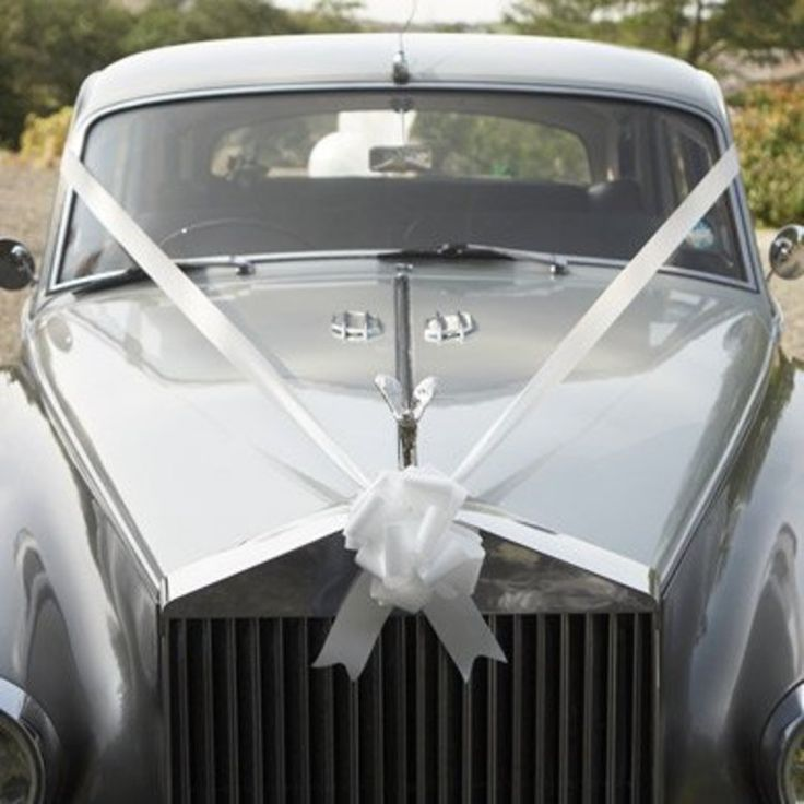 Wedding car ribbon decorations party parade includes for Automobile decoration accessories