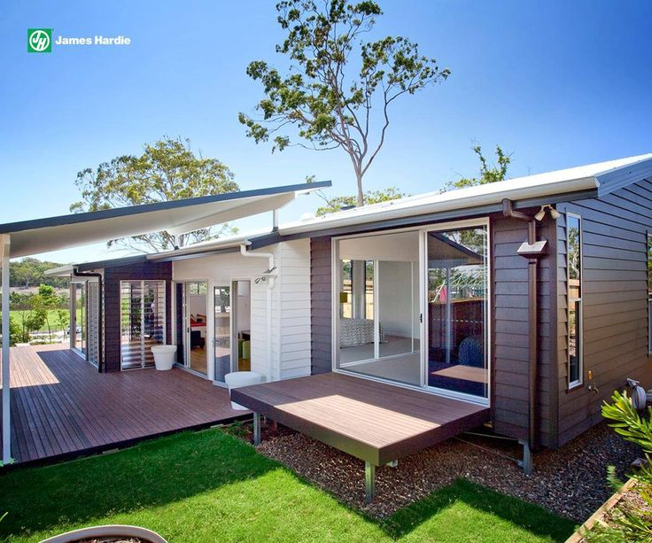 Beautiful use of two colours on the Linea weatherboards #colour #architecture #design #weatherboard #exterior #home #house #roof #modern