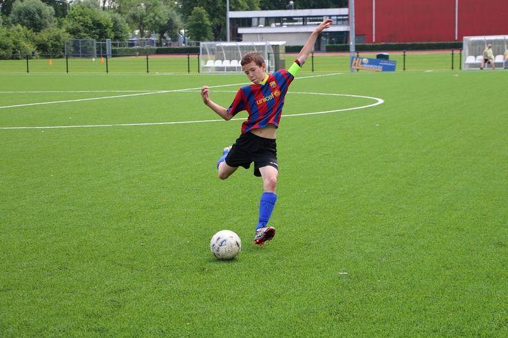Voetballen met kinderen
