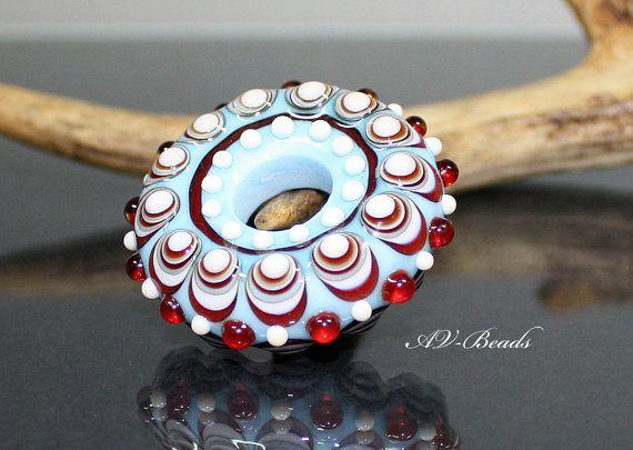AVBeads handmade Lampwork Donut bead SRA by AVBeads on Etsy, €30.00