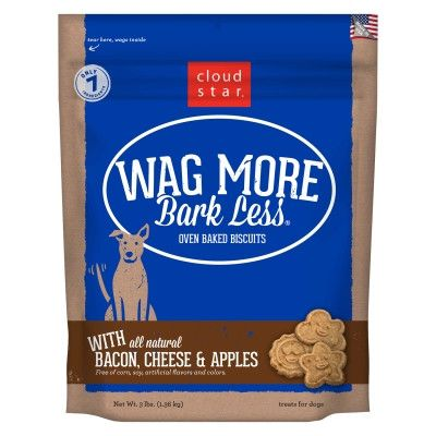 DOG TREATS - BISCUITS & COOKIE - OVEN BAKED BACON CHEESE APPLE - USA - 3 LB - WHITEBRIDGE PET BRANDS - UPC: 693804722027 - DEPT: DOG PRODUCTS