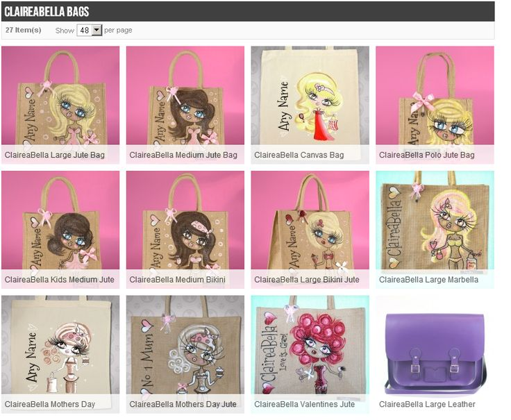 The Claire aBella style.    Find out more on http://photogiftsland.co.uk/personalised-shopping-bags-in-uk/