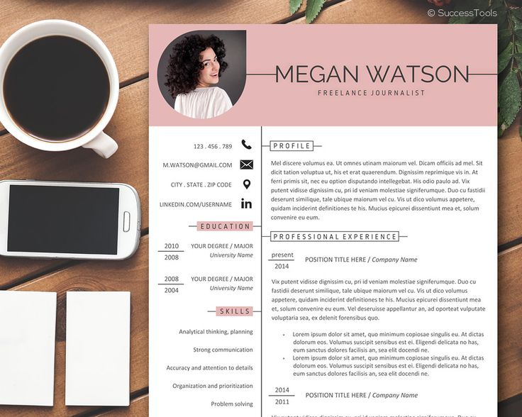 Resume Template Word Creative Resume Template Instant Download