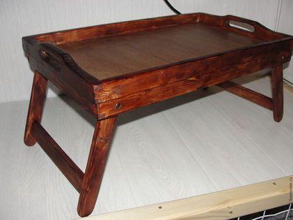 Мебель ручной работы. Ярмарка Мастеров - ручная работа. Купить Стол-поднос. Handmade. Столик для завтрака, изделия из дерева, дуб