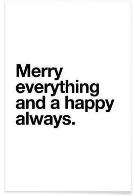Merry - Mottos by Sinan Saydik - Premium Poster