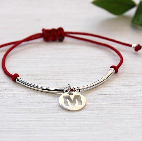 Bracelet cordon au choix médaille personnalisable et joncs