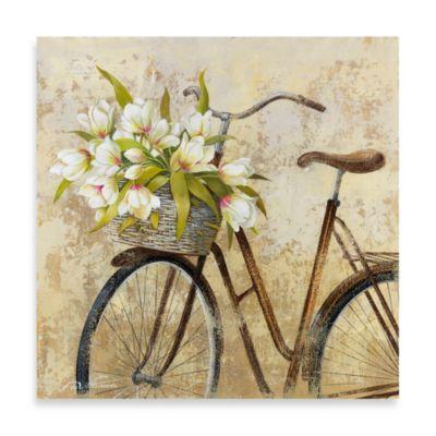 Fabrice de Villeneuve Studio Ride to Flower Market Wall Art - BedBathandBeyond.com