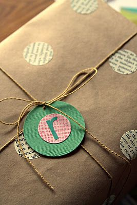 Use circle punch to decorate packages