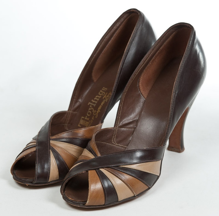 1940s leather shoes