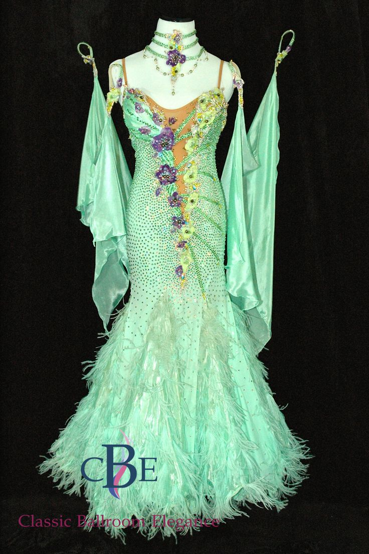 Standard - Smooth Ballroom Dress, CDK309   Dress By: Inna Berlizyeva - Professional Standard Dance Champion   Size: 2-4, possible 6   available for rent or purchase exclusively at Classic Ballroom Elegance   www.cberentals.com   480-819-5228