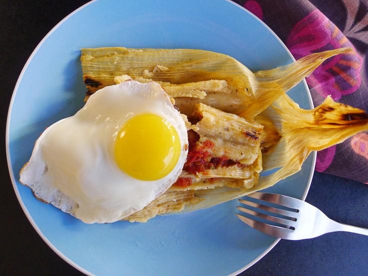 #christmas #breakfast #egg on a #tamale