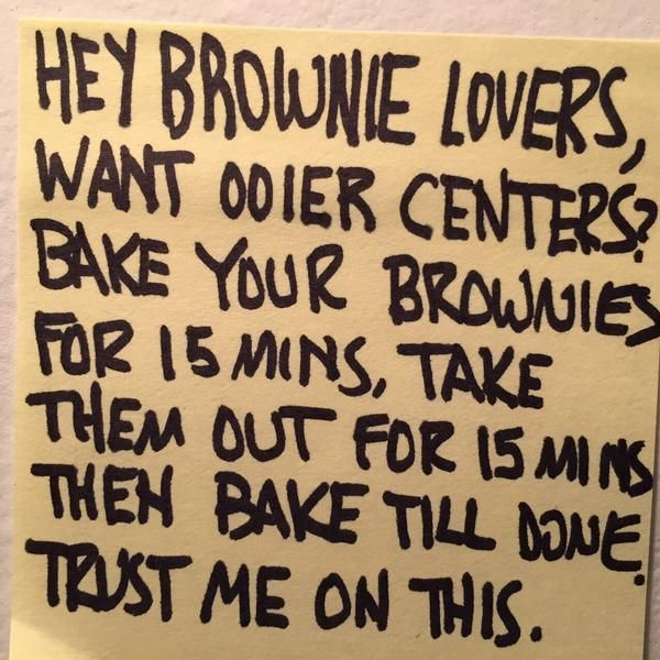 Alton Brown Brownie Tip