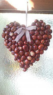 Serce z kasztanów