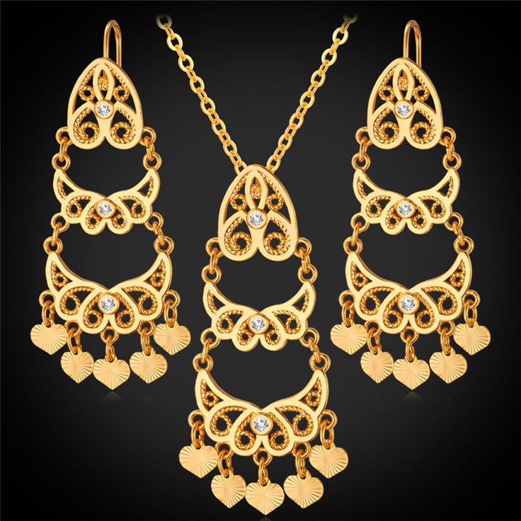 Cheap Jewelry Sets, Buy Directly from China Suppliers:                      18K Gold Jewelry Rhinestone Pendant Necklace Earrings Set Women Trendy 2015 New Fashion 18K