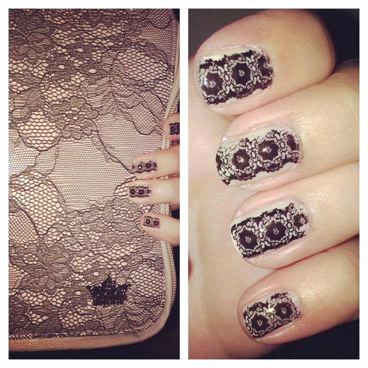 Lace nail stamp