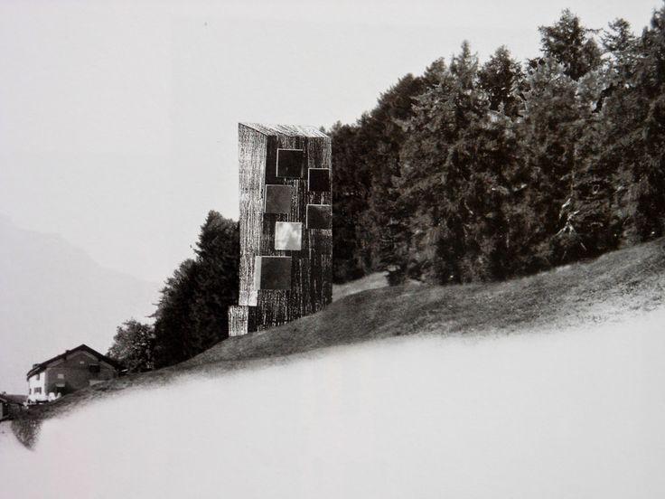 [Peter Zumthor, hotel a la muntanya, Tschlin, Graübunden, Suïssa, 2002]