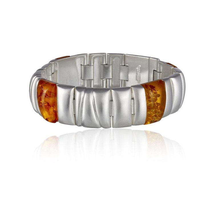 Lapponia Jewellery Midsummer bracelet by Poul Havgaard (silver and amber)