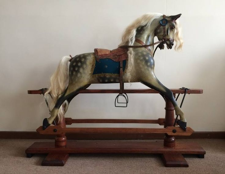 Brigadier F H Ayres Extra Carved Rocking Horse For Sale 163