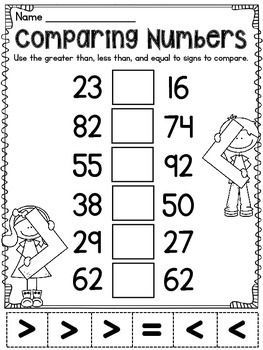 Greater Than Less Than worksheets that are fun and differentiated to practice comparing numbers