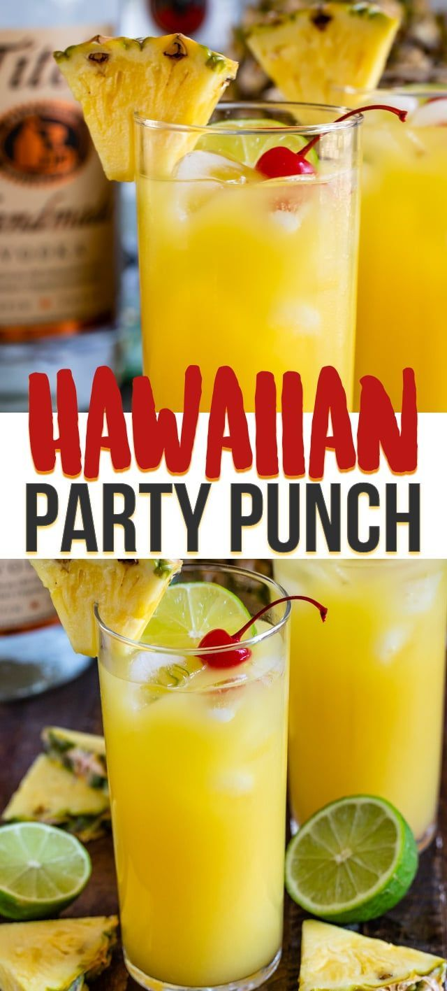 Hawaiian Vodka Party Punch is the perfect party punch cocktail recipe for any su…